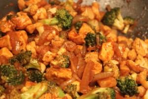 Sriracha glazed chicken stir fry recipe