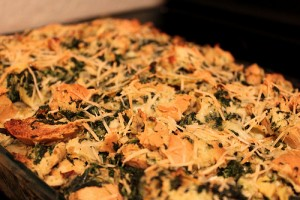 Spinach, artichoke, and brie stuffing