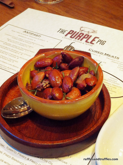 Pork Fried Almonds with Rosemary and Garlic at The Purple Pig