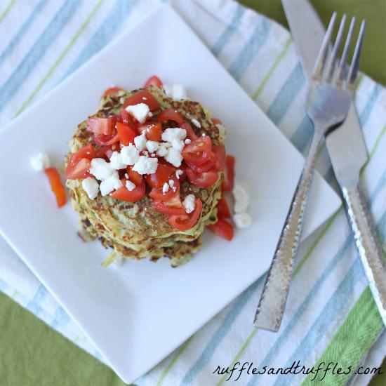 Spaghetti squash and zucchini pancakes