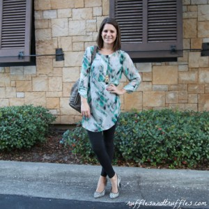 print tunic and leggings