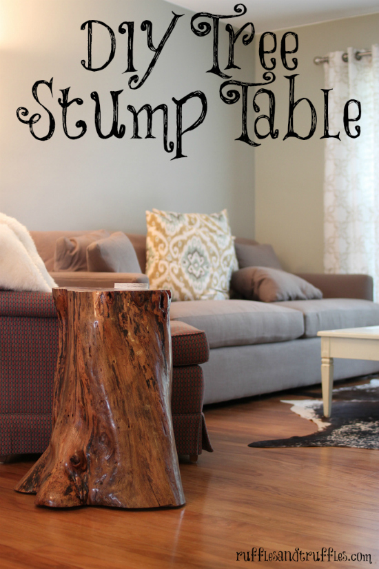 DIY tree stump table 2