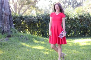 Coral Cynthia Rowley Dress outfit