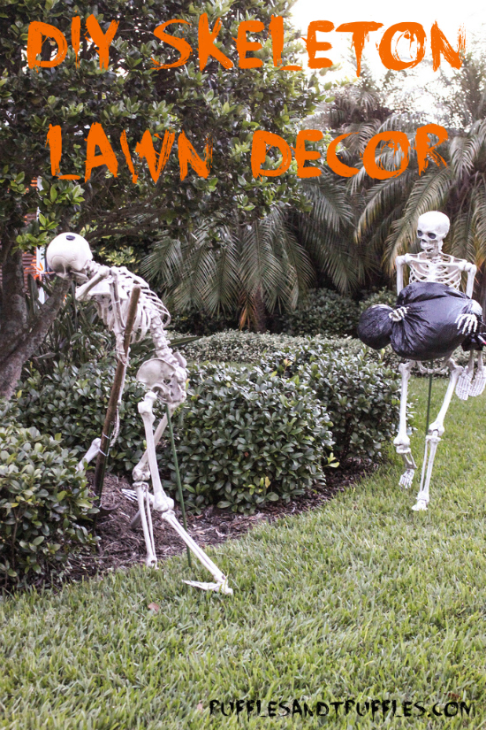 DIY Skeleton Lawn Decor