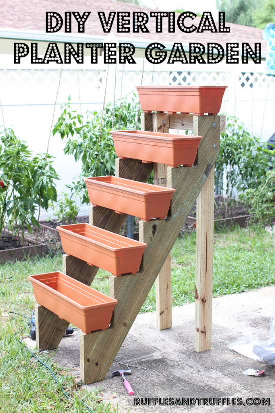 Diy vertical planter garden - Ladder plant stand plans free ...