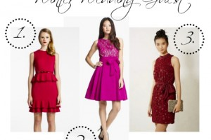 red and pink holiday dresses