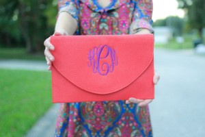 monogrammed clutch All That JAS
