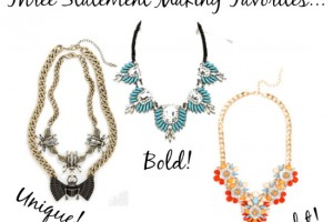 Statement necklace favorites