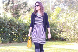striped dress outfit