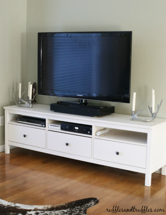 New and improved our tv stand the ikea hemnes - Ikea table tv ...