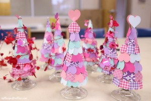 Valentine Heart Trees DIY