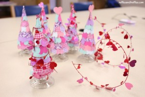 Valentine Heart Trees DIY