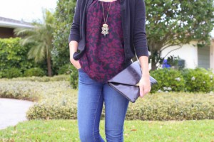 floral tank skinny jeans outfit