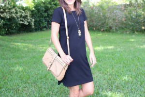 LOFT black tee shirt dress