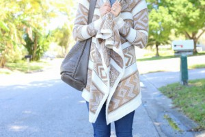 draped sweater outfit