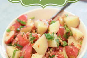 Zesty Potato Salad with Bacon and Green Onions