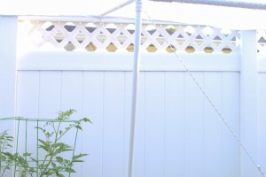 Protecting the garden with a shade screen