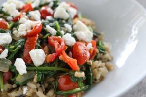 sauteed spinach salad