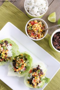 black bean lettuce wraps