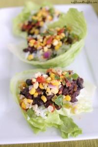 black bean lettuce wraps