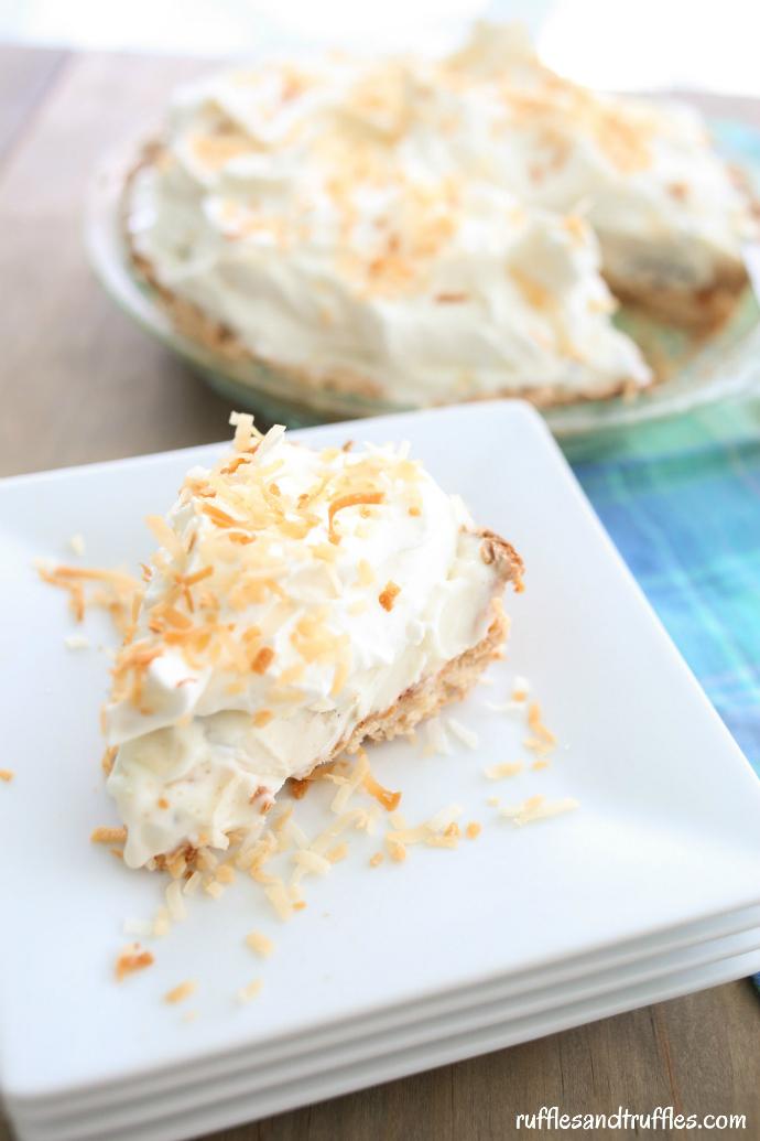 coconut macaroon ice cream pie