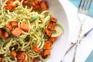 Zucchini Noodles with Basil Vinaigrette