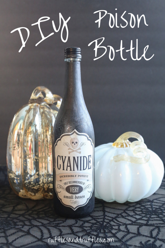 DIY Halloween Poison Bottle