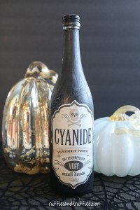 DIY Halloween Poison Bottle