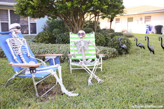 DIY Skeleton Lawn Decorations for Halloween Helpful Homemade