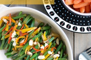 Green Beans with Bell Pepper and Almonds