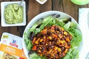 Black Bean Taco Salad with Chipotle and Garlic