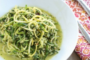 Kale Pesto with Squash Noodles