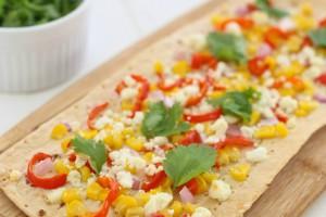 Red Pepper and Corn Flatbread