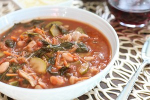 Kale Spinach and Bean Soup