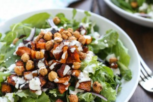 Butternut Squash and Crispy Chickpea Salad