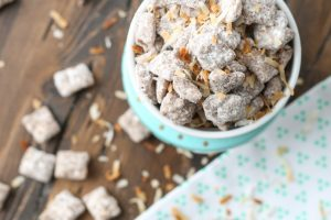 Toasted Coconut Puppy Chow