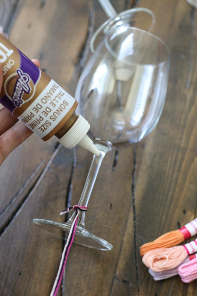 Friendship Bracelet Wine Glasses