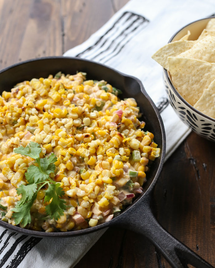 Cheesy Grilled Corn Dip
