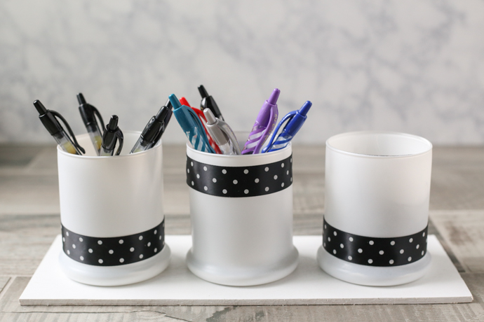 DIY Pen and Office Supply Organizer