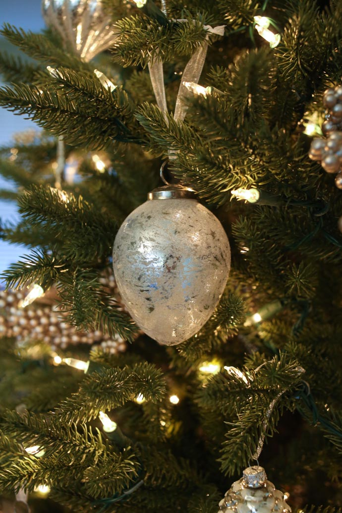 our mercury glass christmas tree for