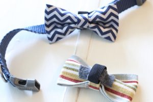 No-Sew Dog Bow Tie Collar Slide