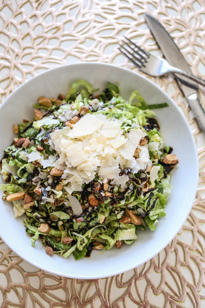 Brussels Sprouts Salad with Lemon Shallot Vinaigrette