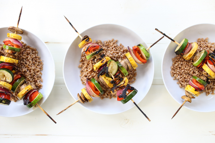 Teriyaki Grilled Vegetable Grain Bowls