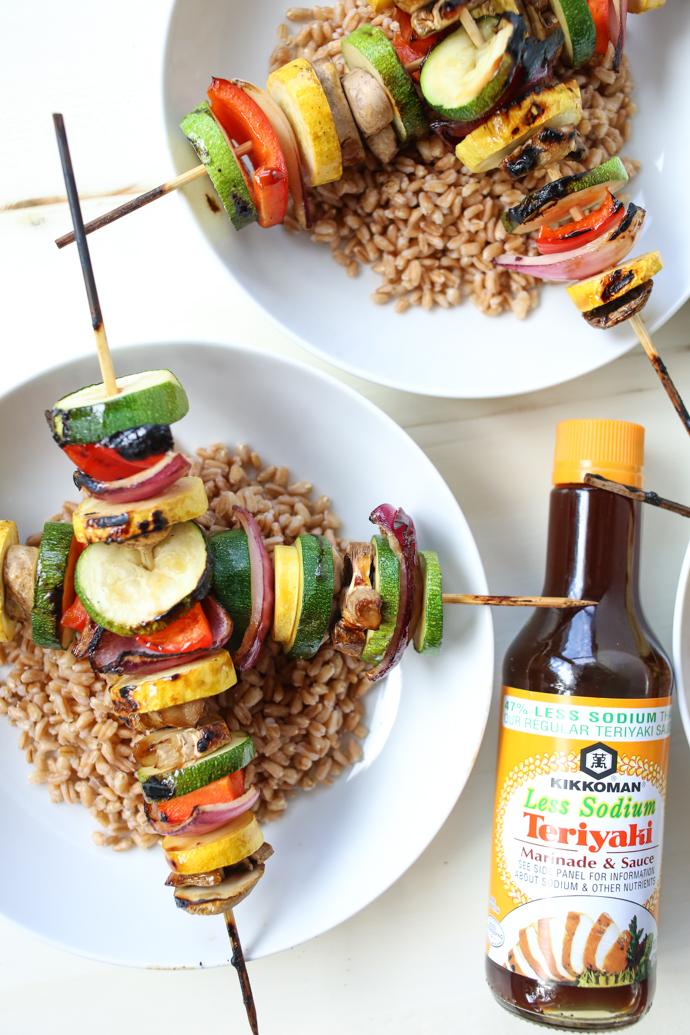 Teriyaki Grilled Vegetable Grain Bowls