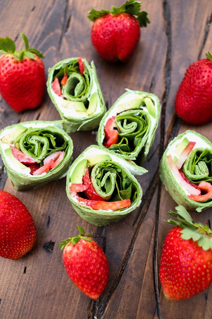 Strawberry Avocado Pinwheels