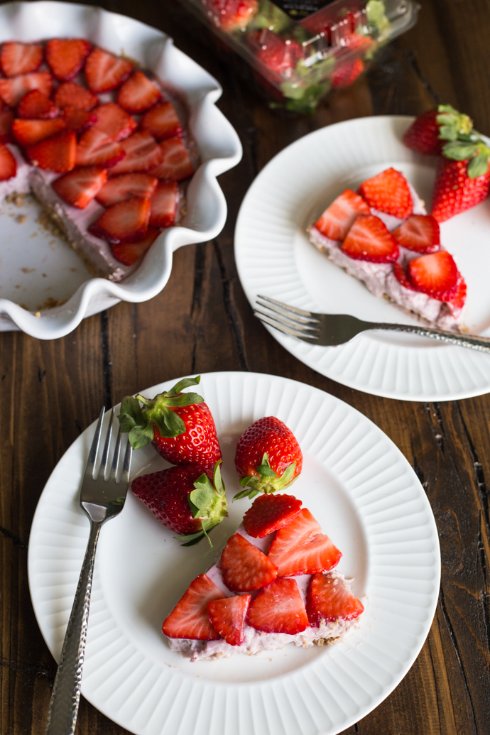 Dairy Free Strawberry Silk Pie
