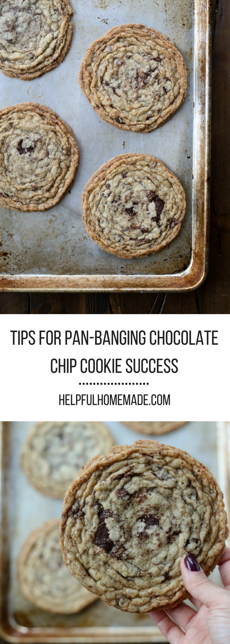 Tips for pan-banging chocolate chip cookie success