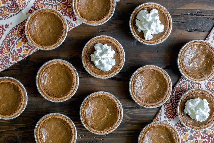 Dairy Free Mini Pumpkin Pies