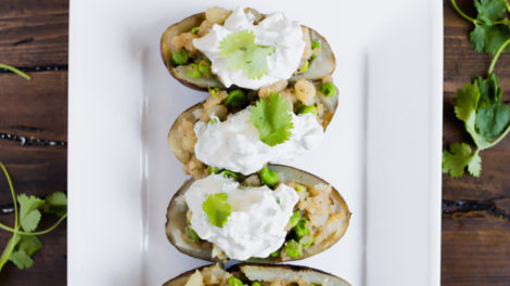 Samosa Baked Potatoes