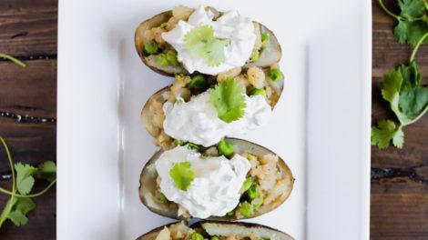 Samosa Baked Potatoes